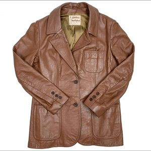 50% OFF Leather by New England Sportswear Co. Coat